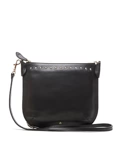 talia black nappa leather cross body bag