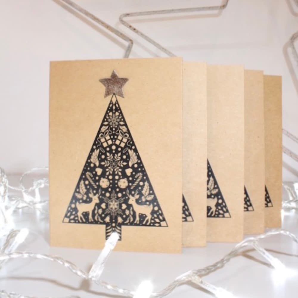 hand finished charity christmas card