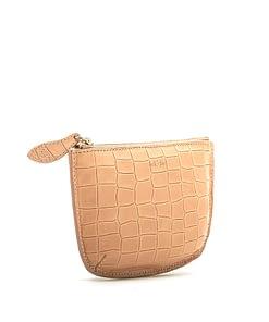 faye mini pouch camel croc