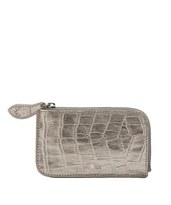 credit card purse metallic leather