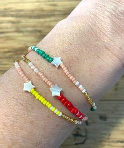 mother of pearl star bracelets