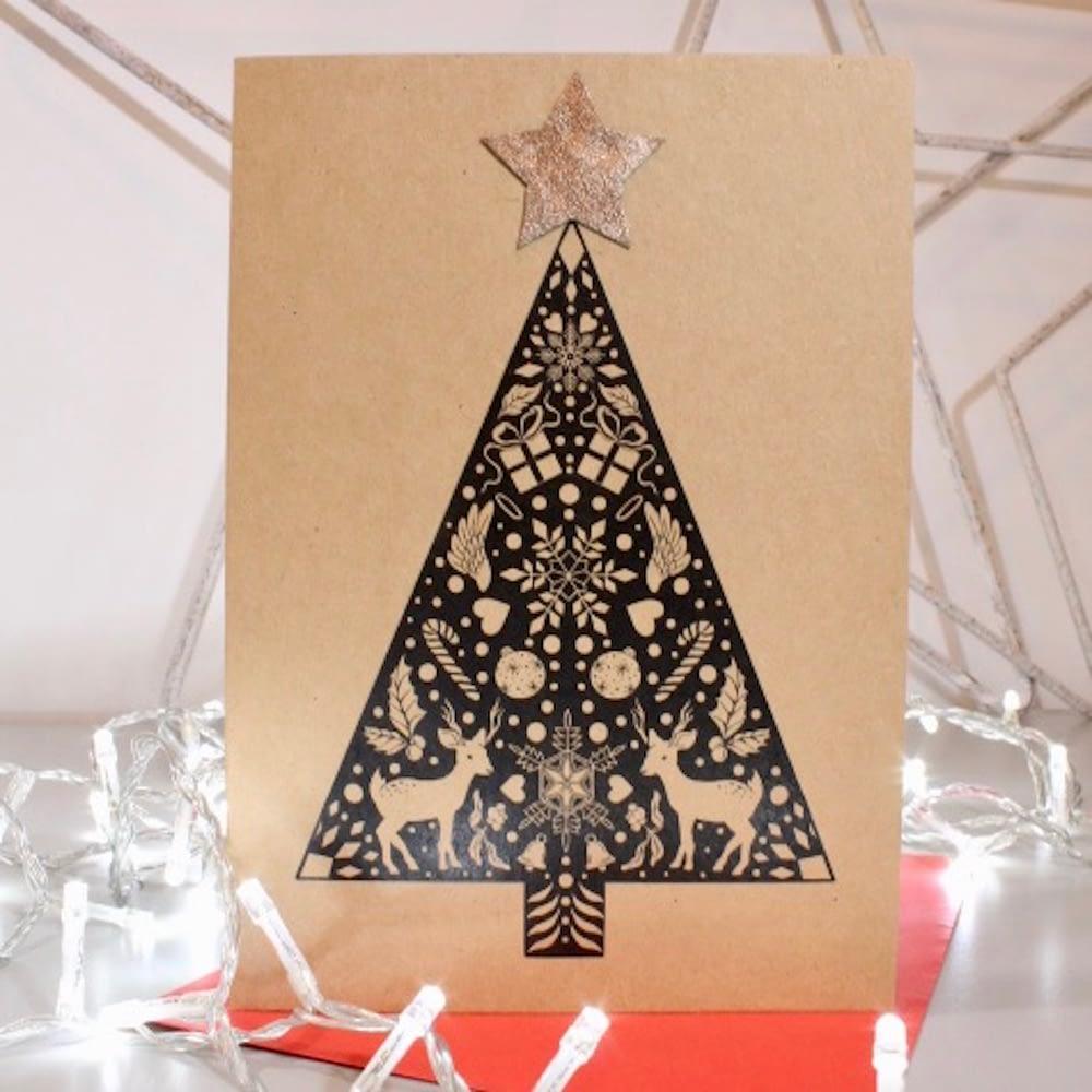 CHRISTMAS CARD KRAFT CARD A5