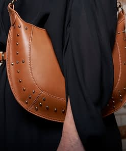 tabitha tan studded hobo cross body bag in tan