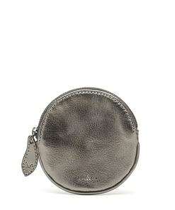 nickel metallic leather coin purse